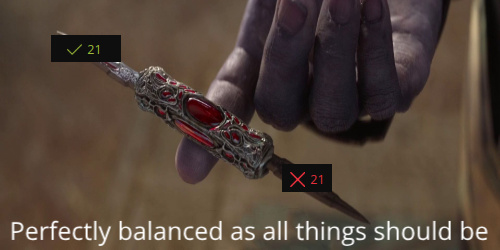 Perfectly balanced - meme