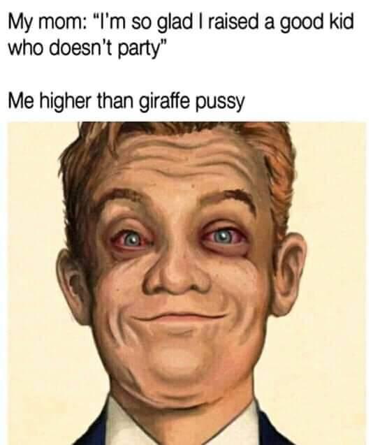 Higher then a giraffe pussy - meme