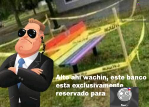 Tomas se apropiado de un banco publico (inmigrante hizo el mim) x2 - meme