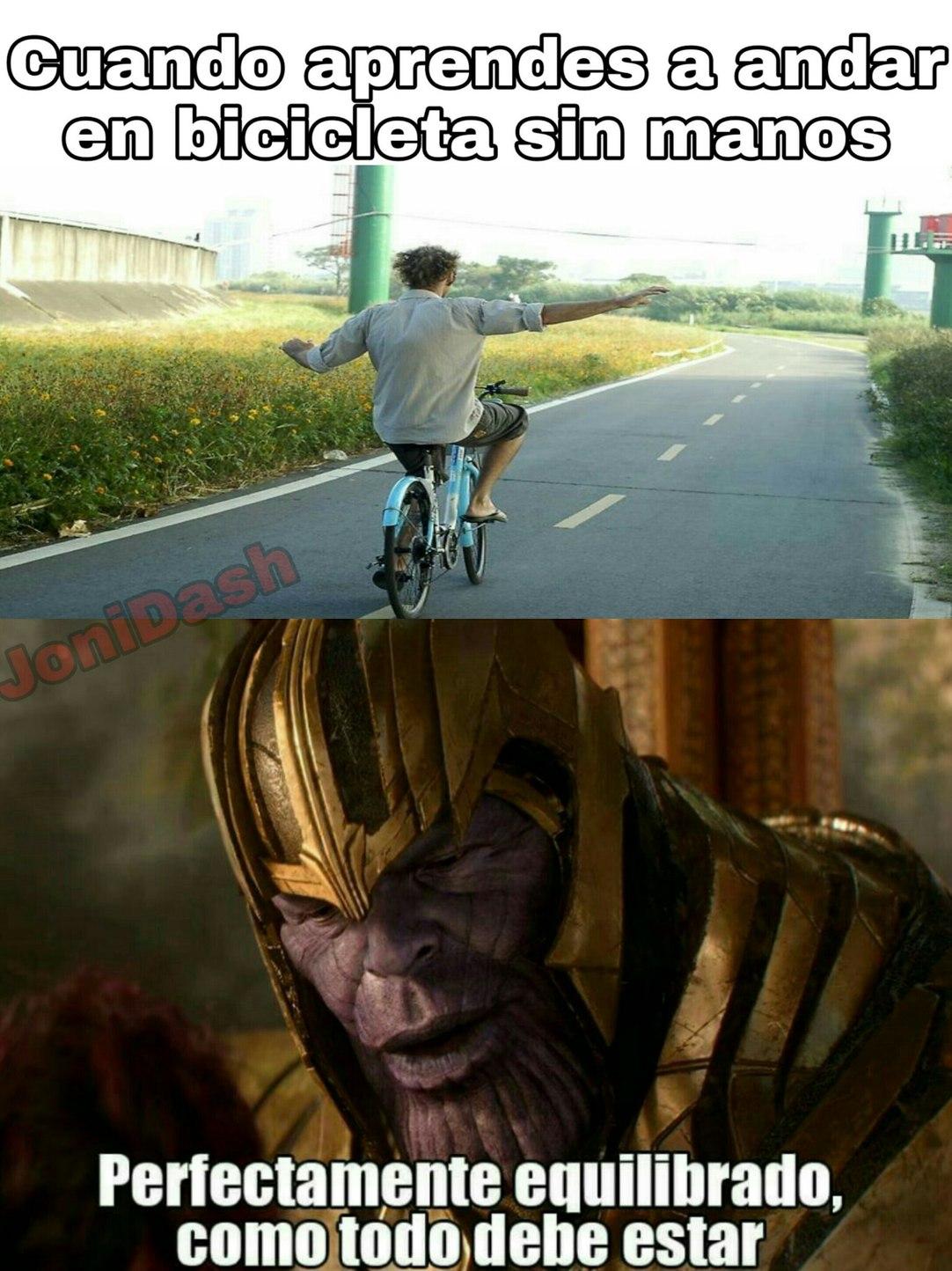 Equilibrio perfecto - meme