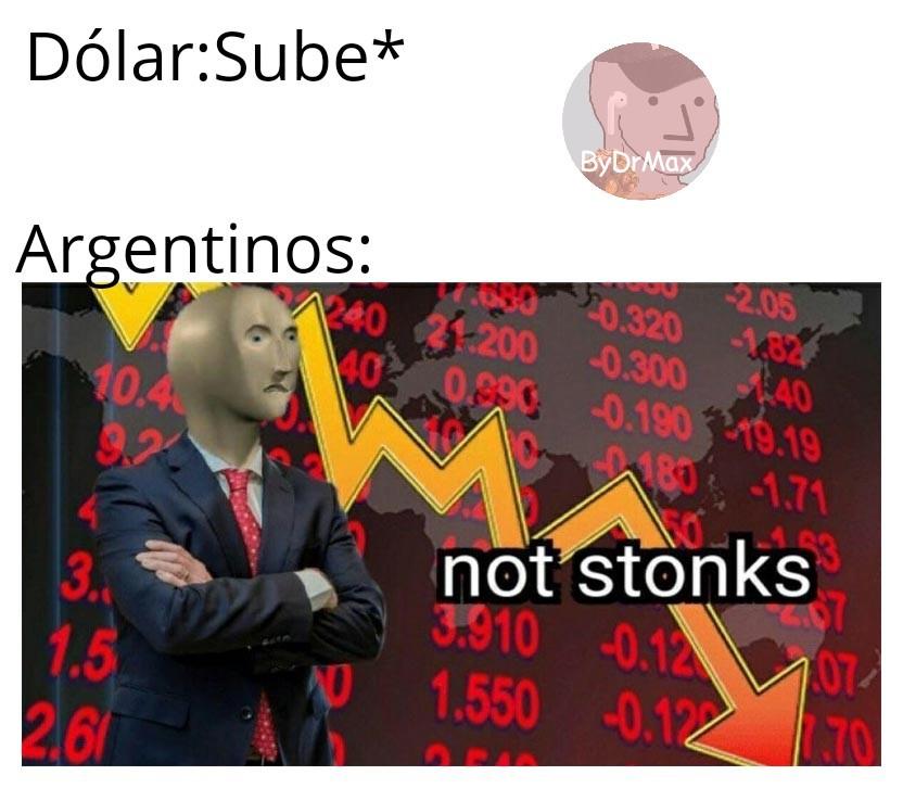 También Paraguayos:Not Stonks - meme