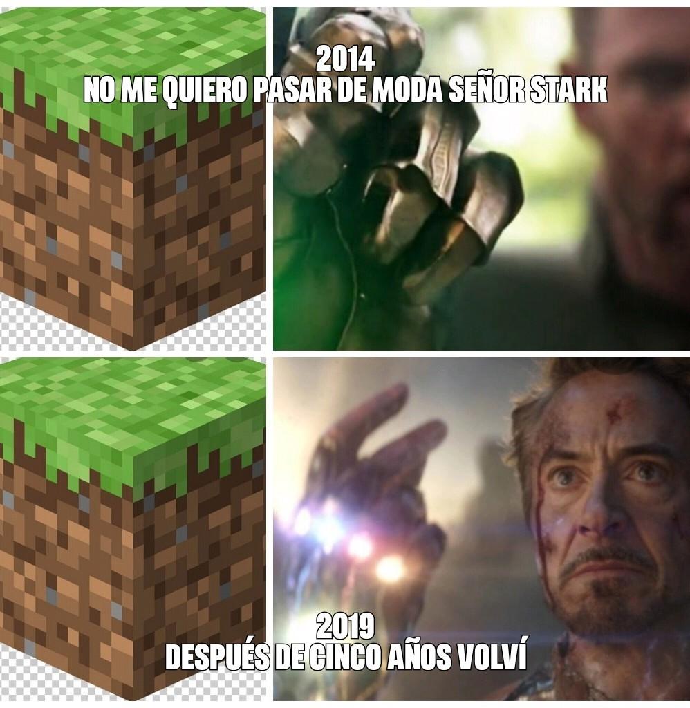 Como el Minecraft volvía a la vida - meme