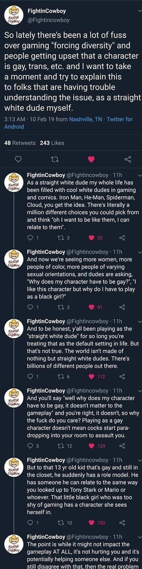 as a straight white dude - meme