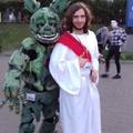 Imagem real de Jesus tentando curar Furro