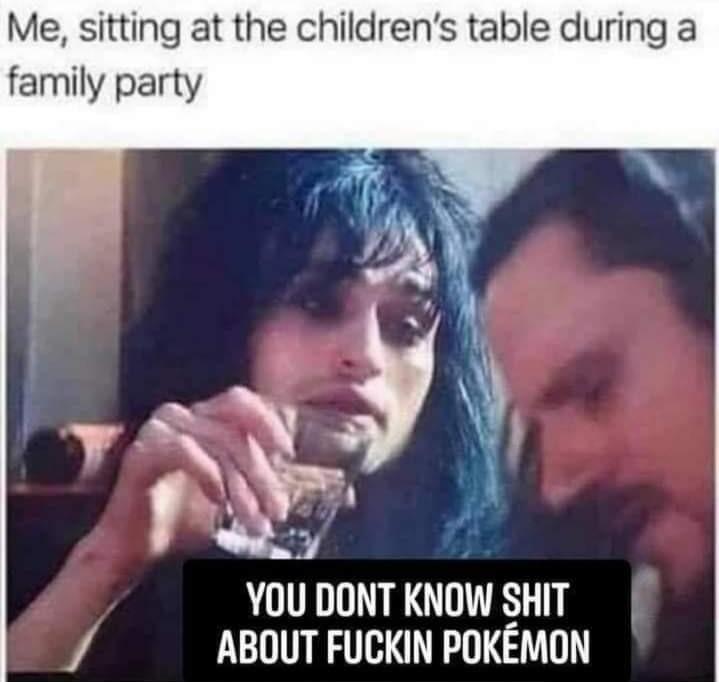 Still remember all the og Pokémon names - meme