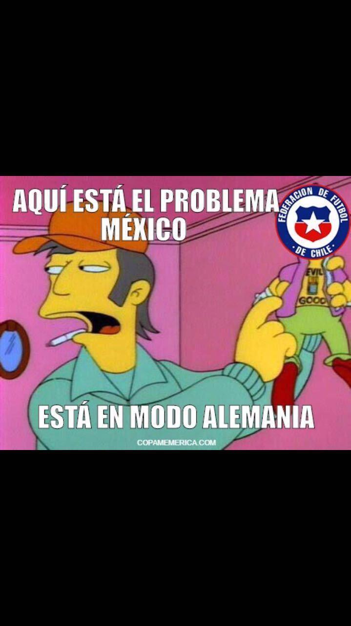 Chile 7-0 México - meme