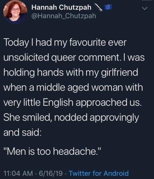 men is too headache - meme