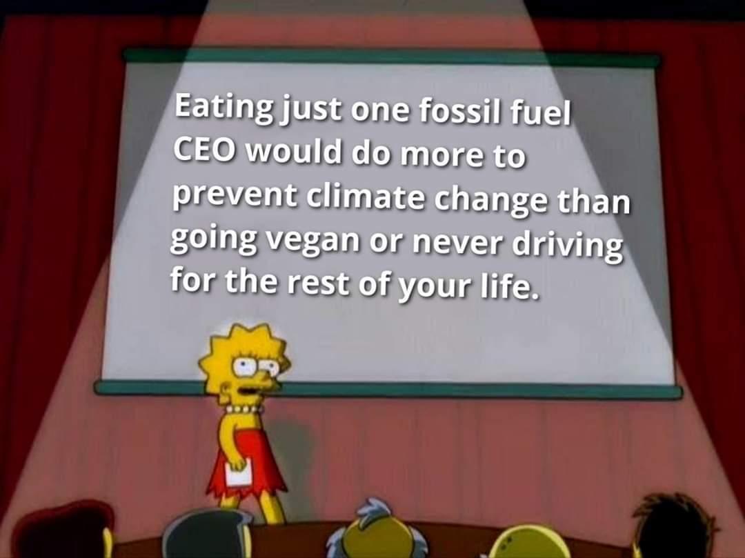 Cannibals against climate change. - meme