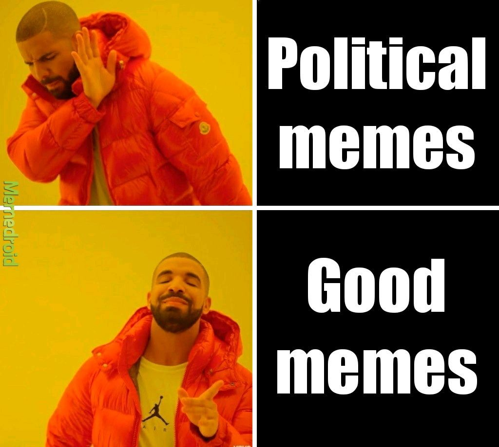 Memedroid is not for politics