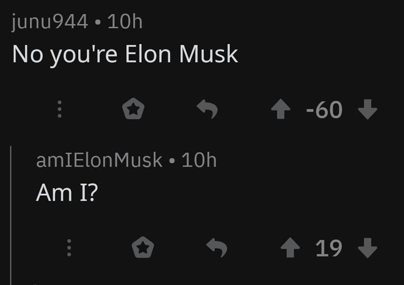 Is he? - meme
