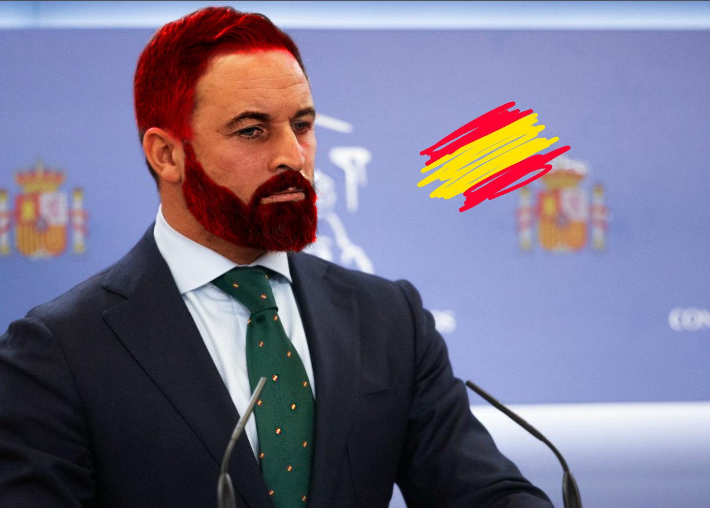 Abascal aún más español, un político de España, para los latinos - meme