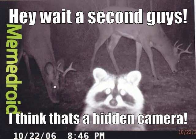 Smile you're on candid camera! - meme