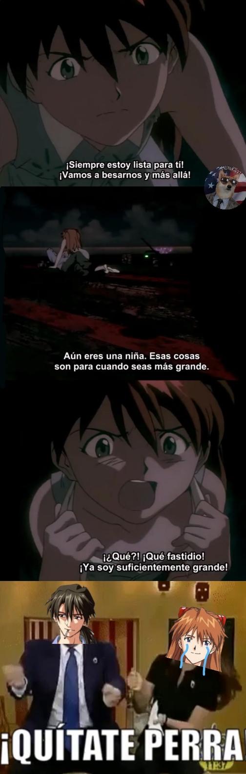 Anime Evangelion grandes openings pequeñas t3t4s - meme