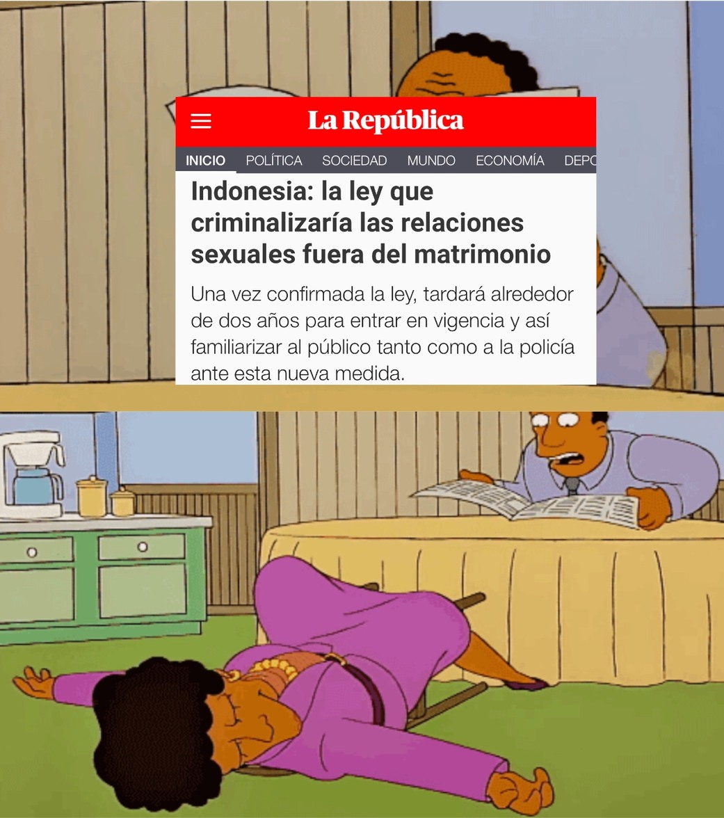 No Más Adulterio en Indonesia - meme