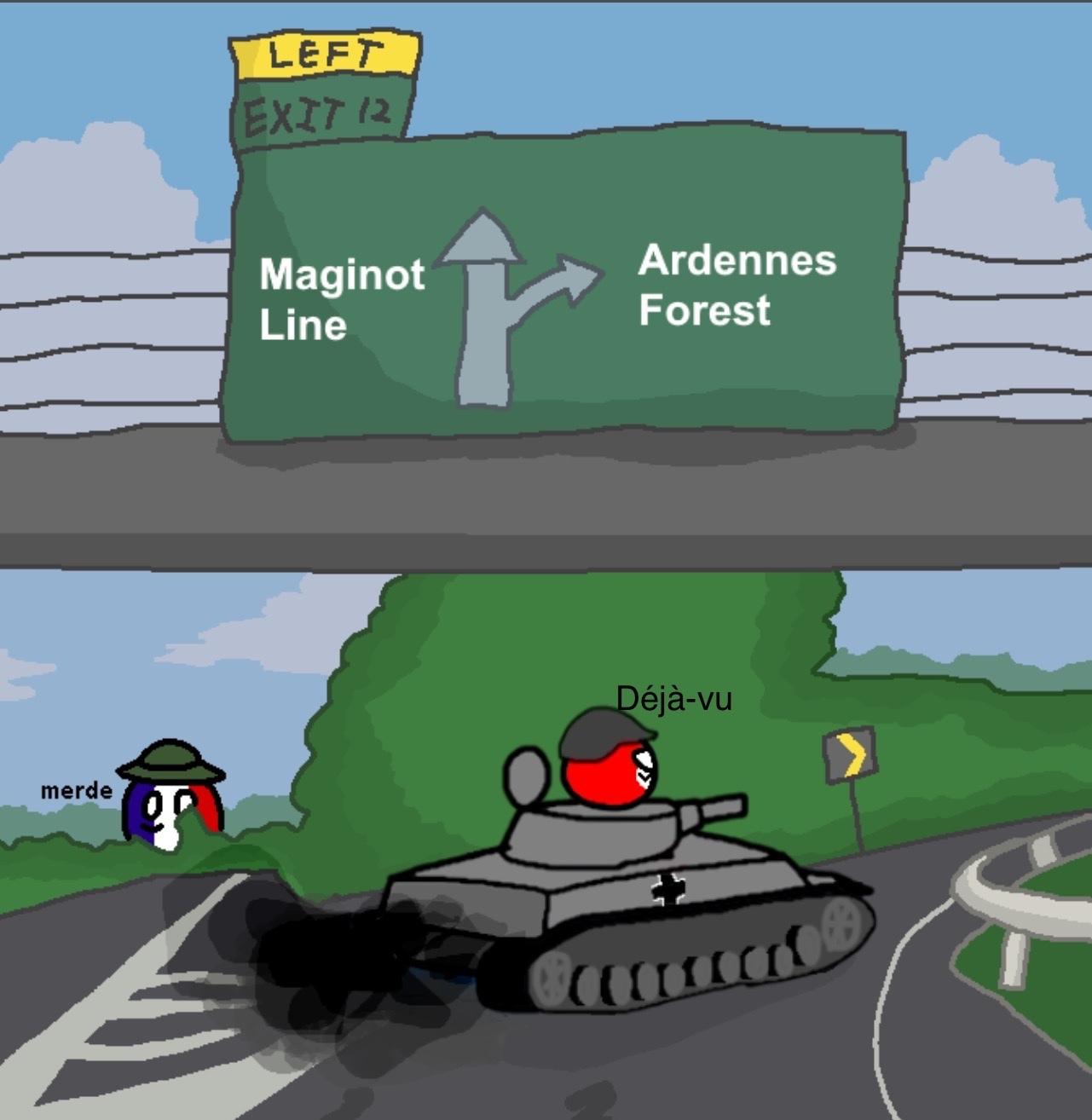 Quand un Nazi drift avec un tank - meme