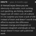 Things getting heated in the hentai comment sections