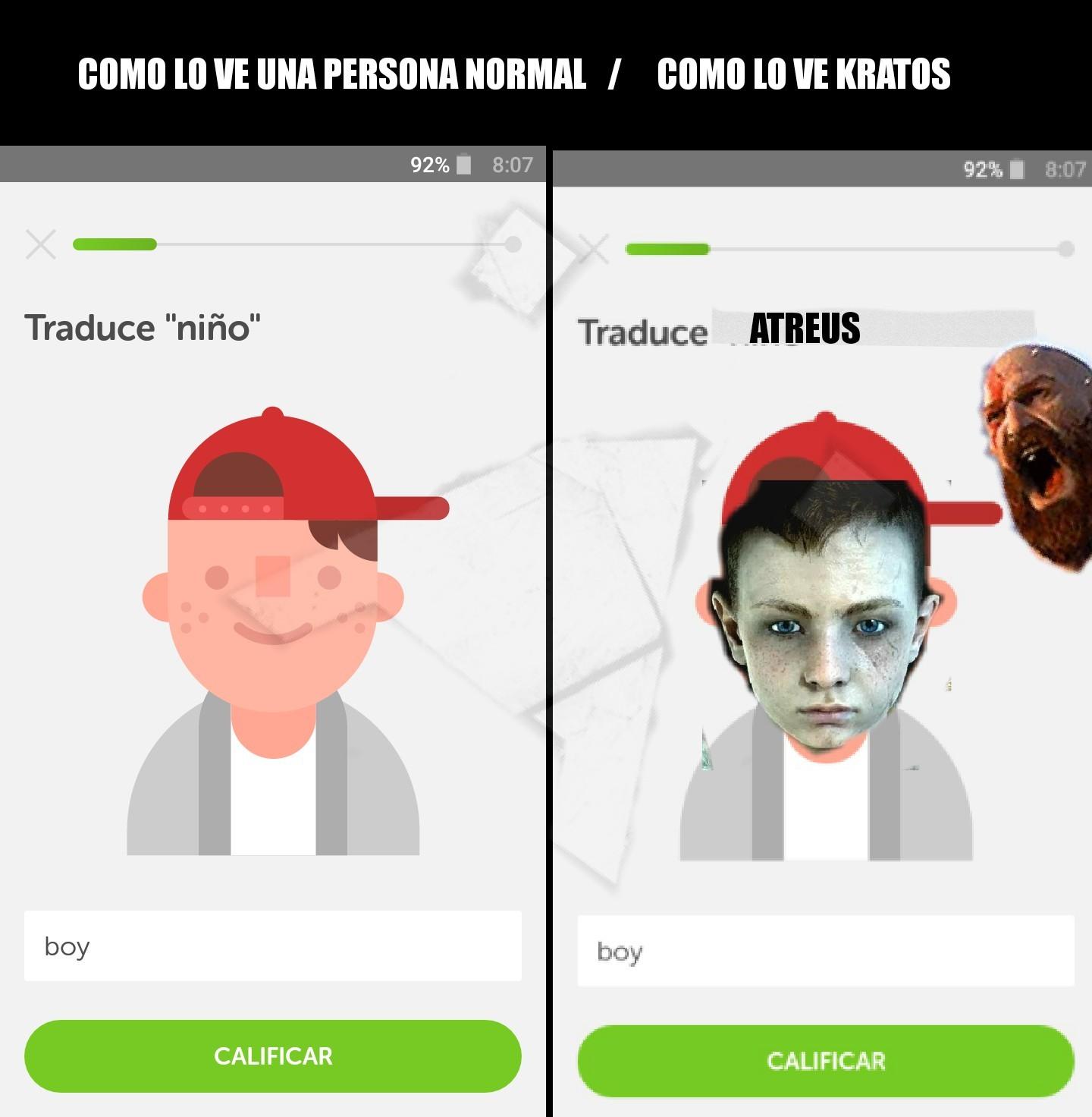 Boy! = Atreus! - meme