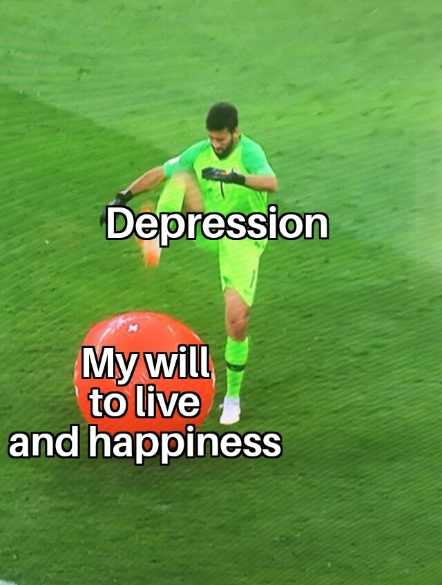 Depression got me like - meme
