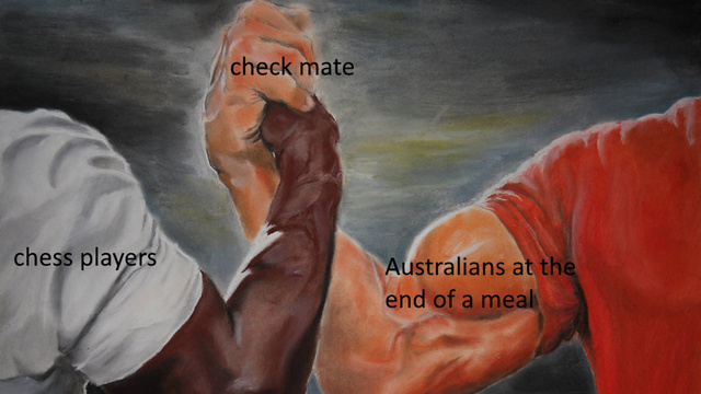Australians at the end of a meal - meme