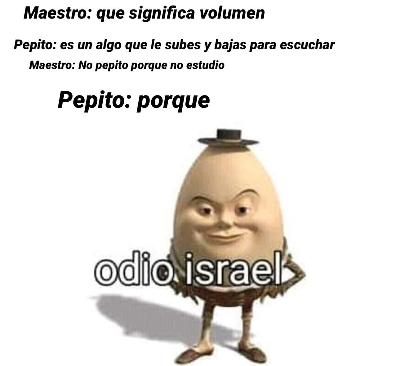Odias Israel? - meme