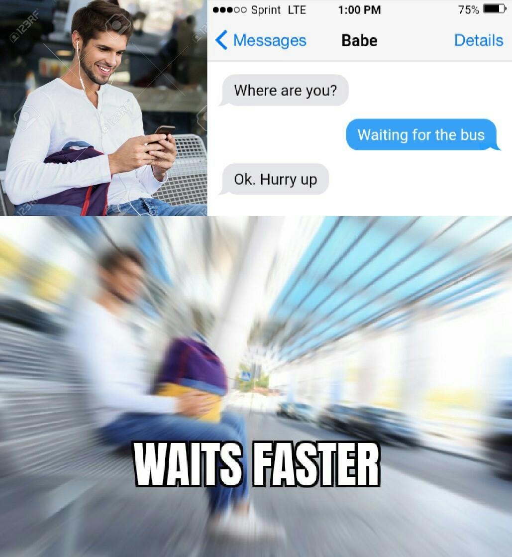 Patience is a virtue - meme
