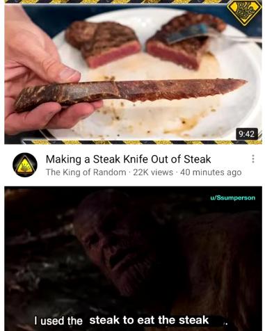 thanos steak - meme
