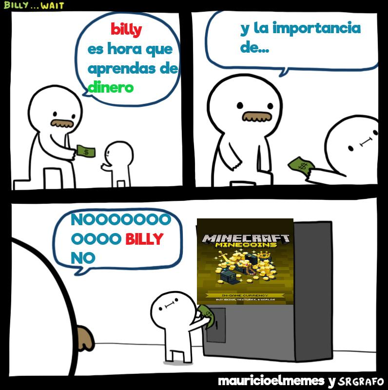 no billy nooooooooo - meme