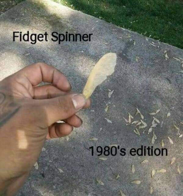 Old school fidget spinner - meme