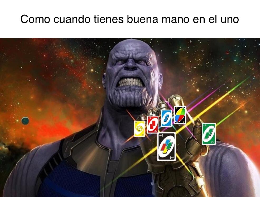 Cartas del infinito - meme