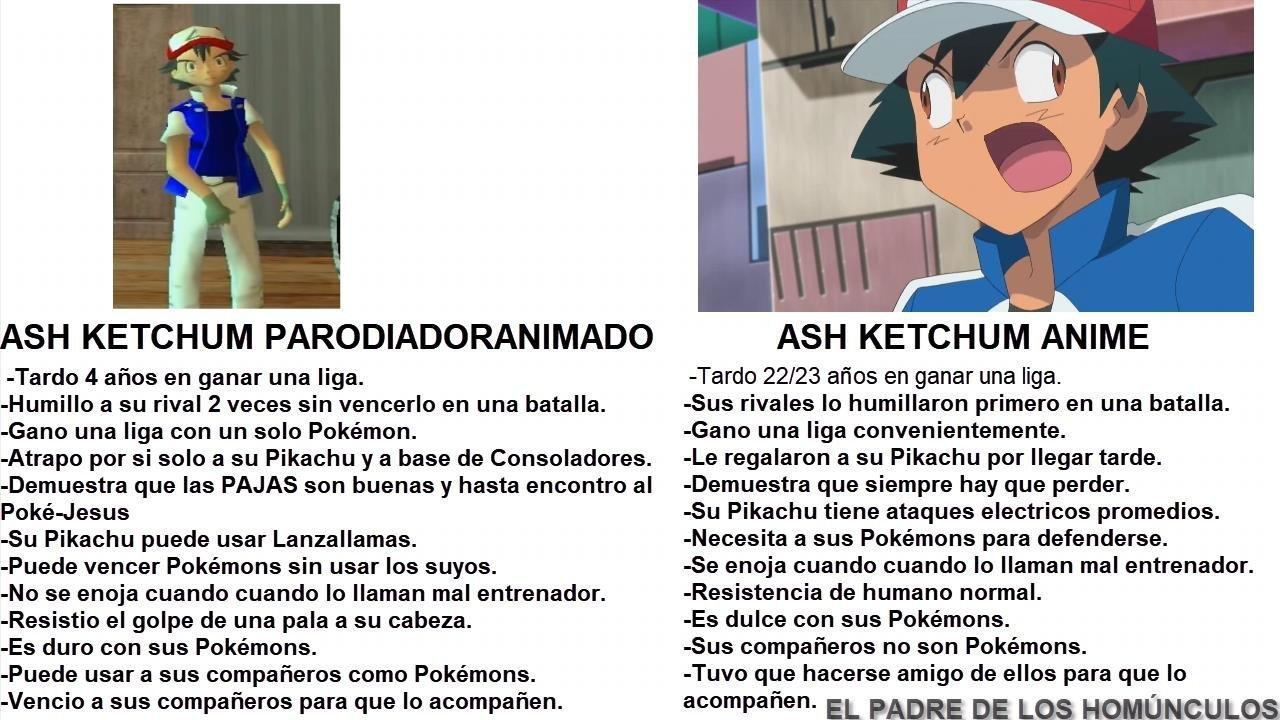Las aventuras de ash mostaza y pingachu - meme