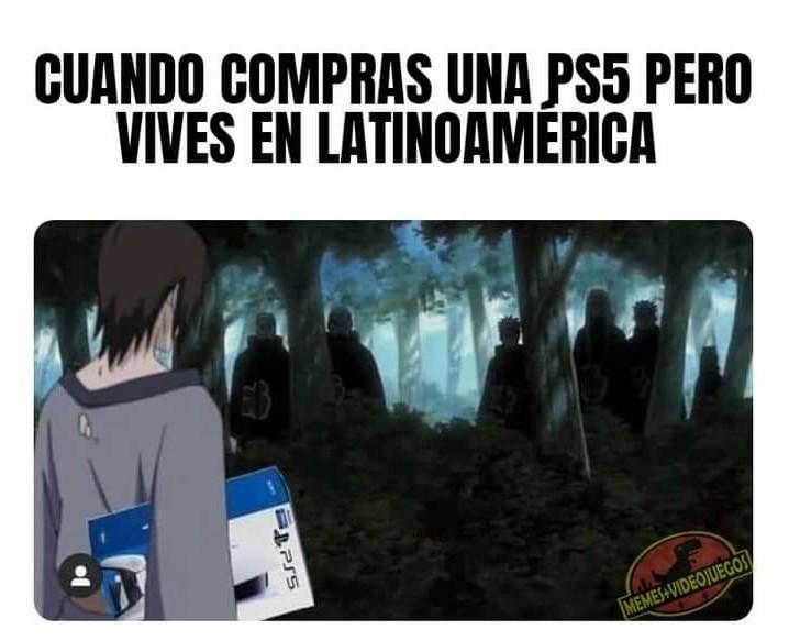 Comprar ps5 Latinoamérica - meme