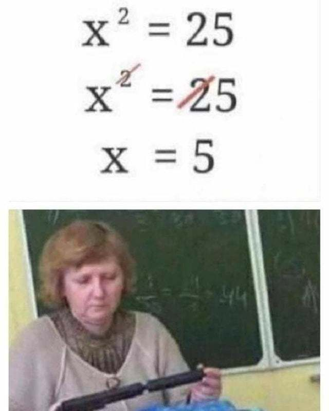 Solve the equation - meme