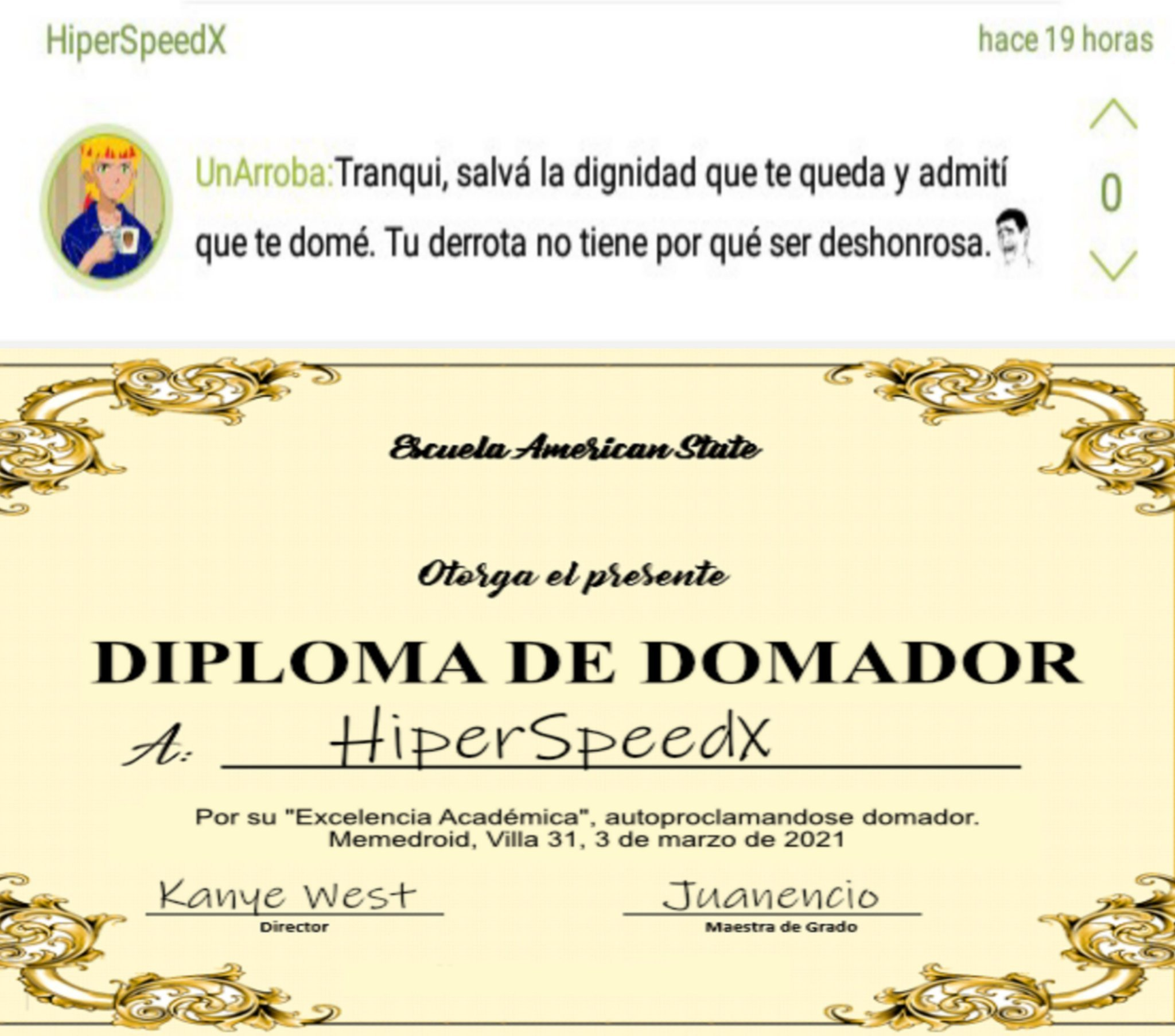 Hiperdomador - meme