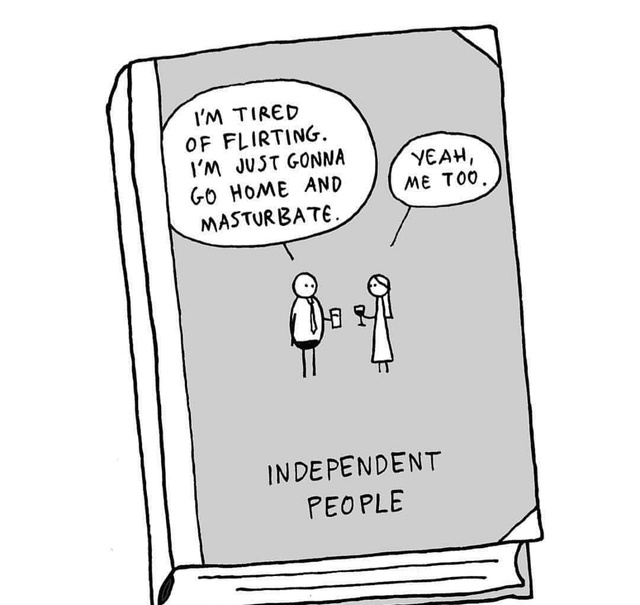 Independent people tired of flirting. - meme