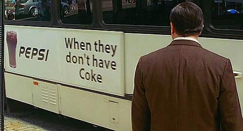 Coke > Pepsi - meme