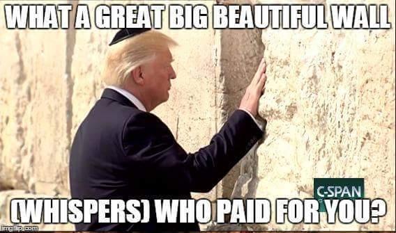 What a great big beautiful wall - meme