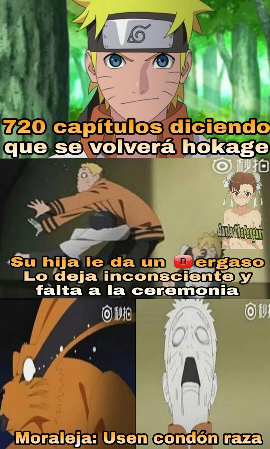 Estoy algo decepcionado con el final de Naruto - meme