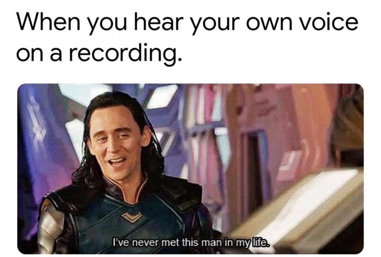 I think that I sing well - meme