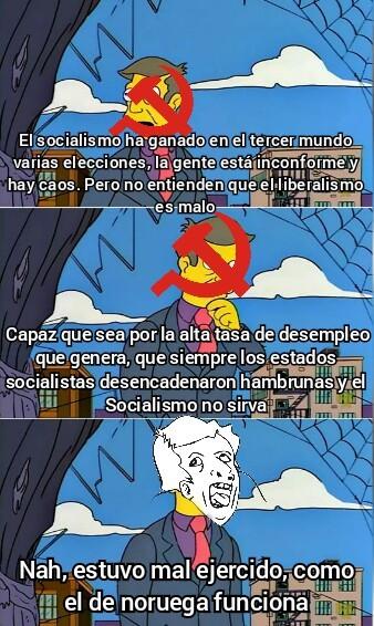 *El socialismo de Noruega es Liberal* - meme