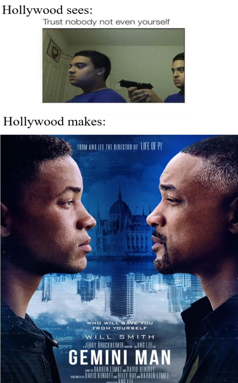 Will Smith trying to kill Will Smith - meme