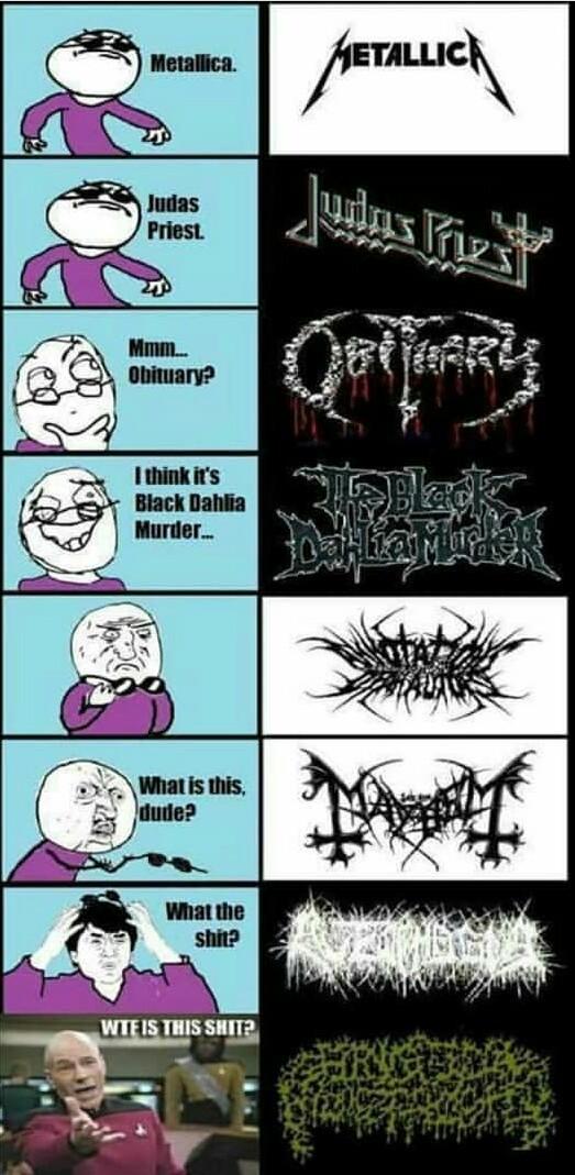 Worst métal band - meme
