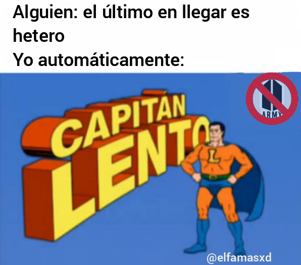 capitán lento es normal - meme
