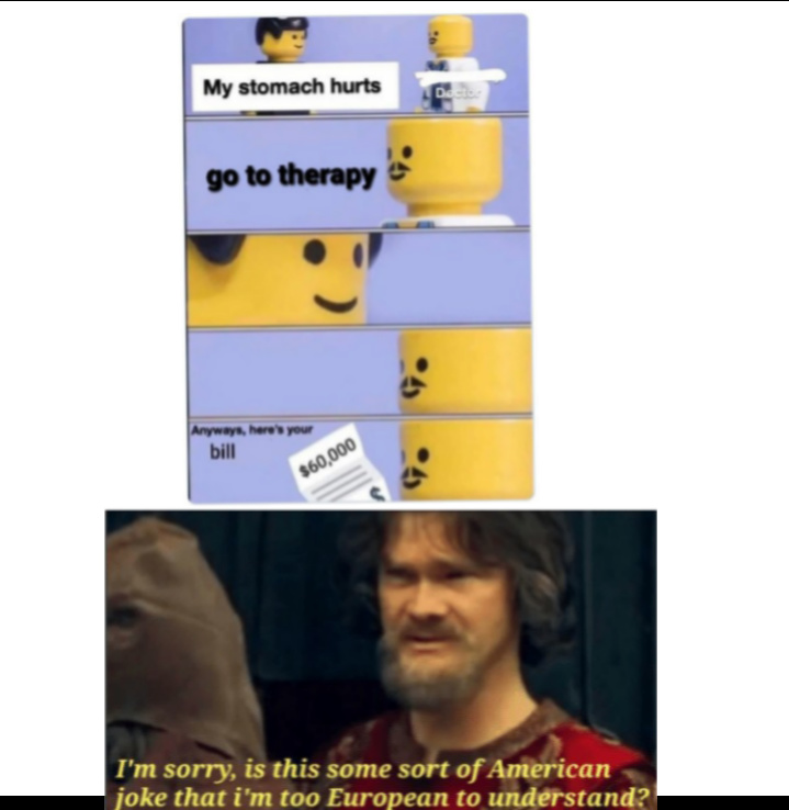 Laughs in free healthcare - meme