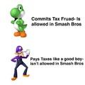 Tax fraud is yoshi's personality