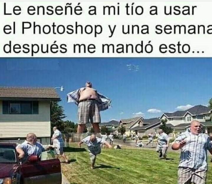 Los tíos y el fotosop - meme