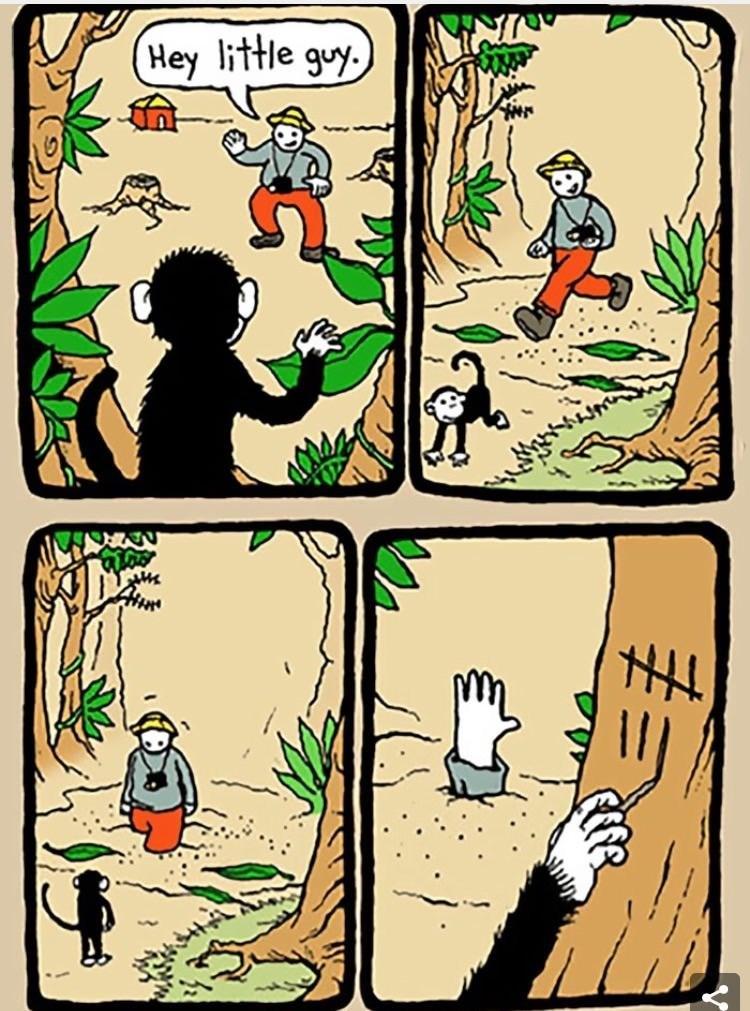 Monkey see, Monkey add to tally marks. - meme