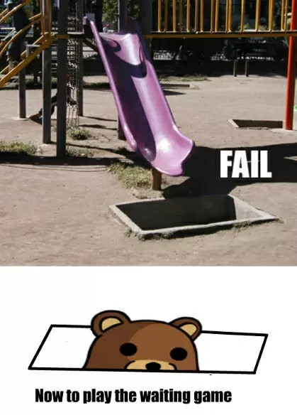 Pedobear... he lives? Oh god no... - meme
