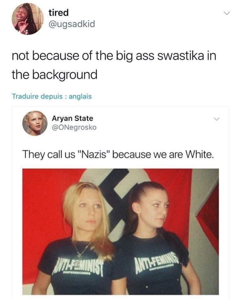 maybe stop doing nazi shit then - meme