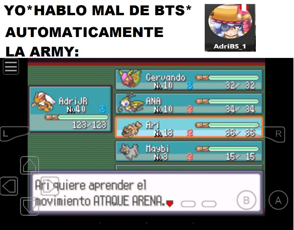 Intenten ignorar los nombres de mis demas pokemons - meme