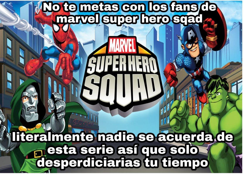 La serie tiene pocas apariciones de spiderman >:( - meme
